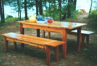 Outdoor harvest table and benches plan can 5 59 in stock outdoor