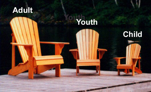 Child Size Adirondack Chair Plan Downloadable