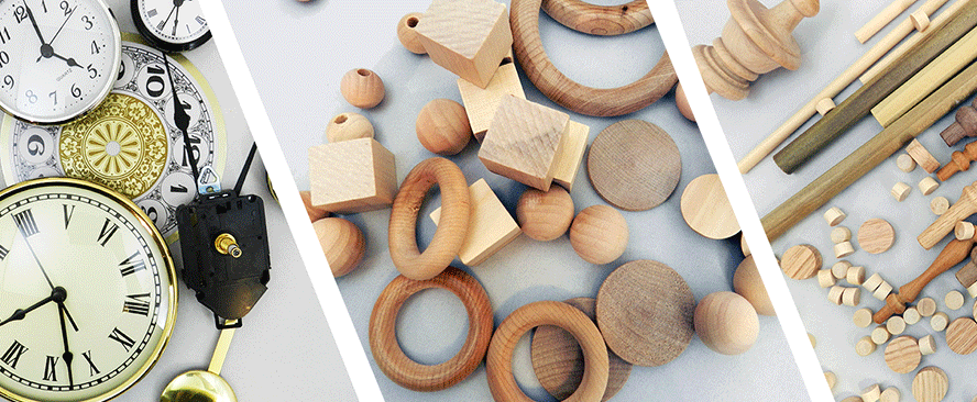 Wood Working Supplies Wooden Craft Toy And Clock Parts