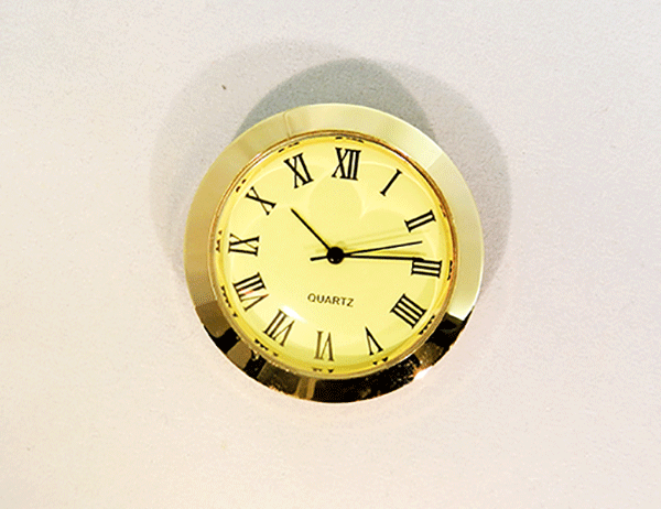 Mini Ivory Roman Clock Insert | Bear Woods Supply