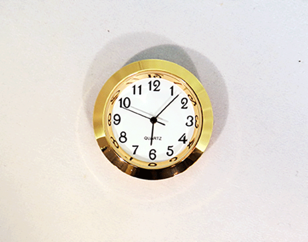 Mini White Arabic Clock Insert | Bear Woods Supply