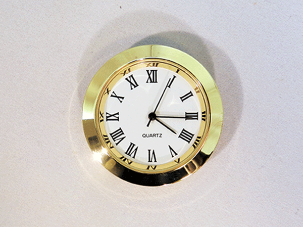 Mini White Roman Clock Insert | Bear Woods Supply