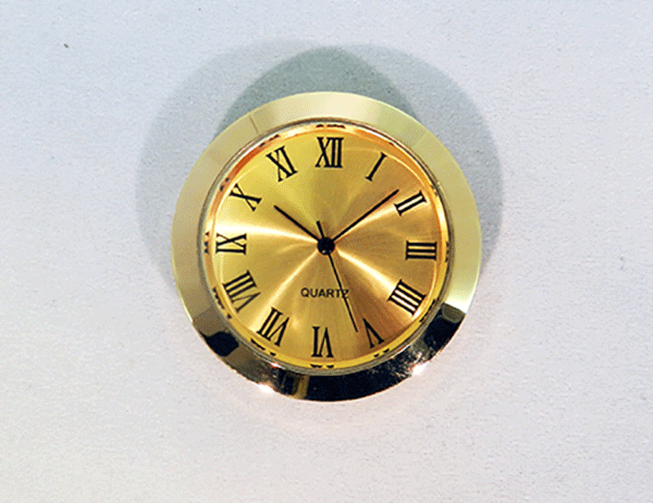 Gold Face Min Roman Clock Insert | Bear Woods Supply