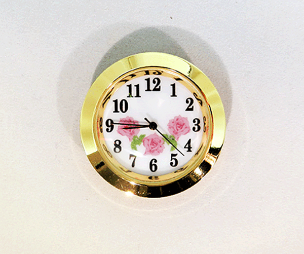 White-Pink Arabic Clock Insert | Bear Woods Supply