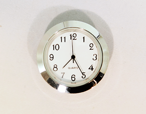 White Arabic Clock Insert Silver | Bear Woods Supply