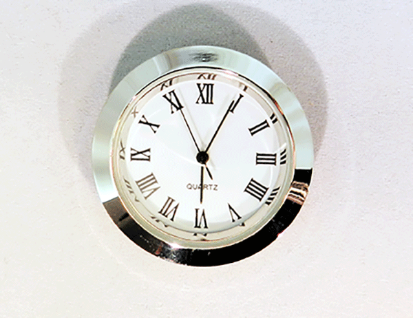 White Roman Clock Insert Silver | Bear Woods Supply