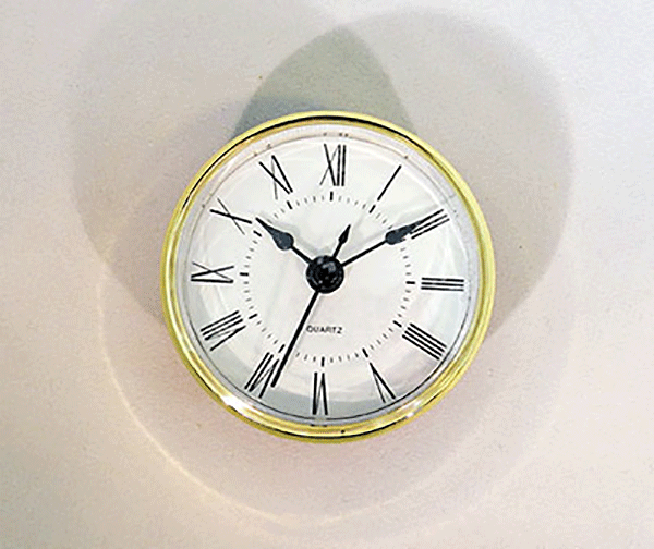 White Roman Quartz Clock Insert | Bear Woods Supply