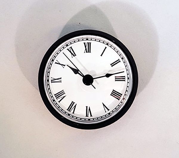 White Roman Quartz Clock Insert Black | Bear Woods Supply