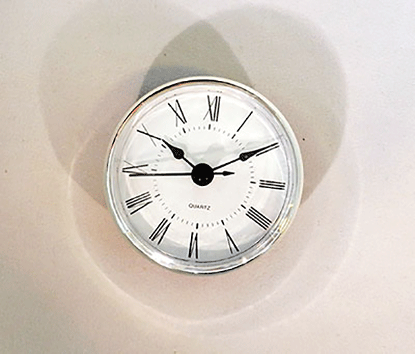 White Roman Quartz Clock Insert Silver | Bear Woods Supply