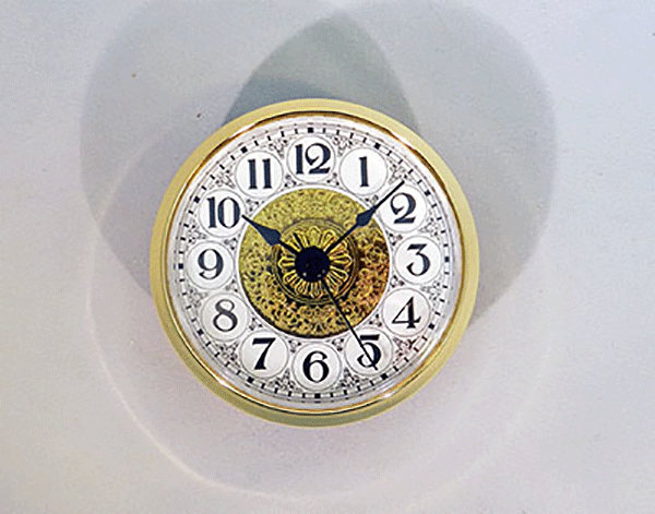 Fancy White Arabic Clock Insert | Bear Woods Supply