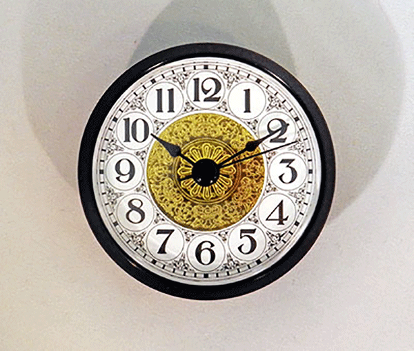Fancy White Arabic Clock Insert Black | Bear Woods Supply