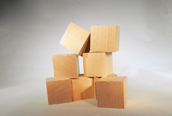 Wooden Blocks 1 12 Inch Cubes