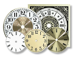 Clock Dials Round and Square