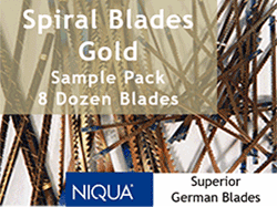 Spiral Blades  Pack Sample scroll saw blades