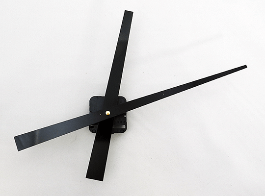 "Black Tapered High-Torque Clock Hands 8"" | Bear Woods Supply"
