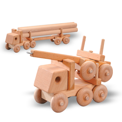 Buy a logging truck wood toy woodworking plan | Bear Woods Supply