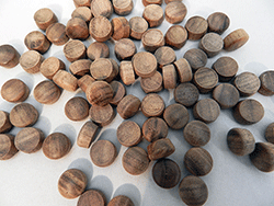 Walnut Round Head Wood Plugs | Bear Woods Supply