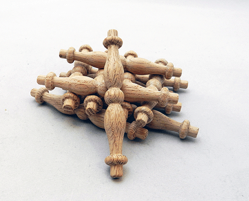 Oak spindles 3 1 2 by 1 2 per bag of 25 for Wooden finials for crafts