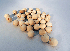 Wood Craft Bead 5/8 inch | Bear Woods Supply