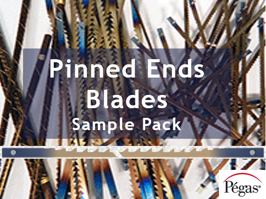 Pegas Pinned End Scroll Saw Blades Sample
