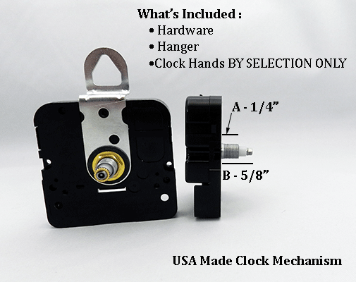 USA Made Clock Movement 1/4 inch | Bear Woods Supply