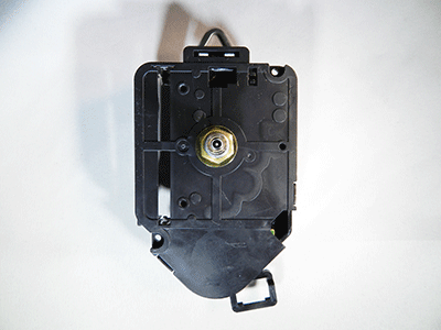 "Clock Movement Mechanism Quartz kit 2 1//2/"" Black Spade Hands for 1//4/"" thick dial"