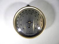 Gold Bezel Gold Face Thermometer