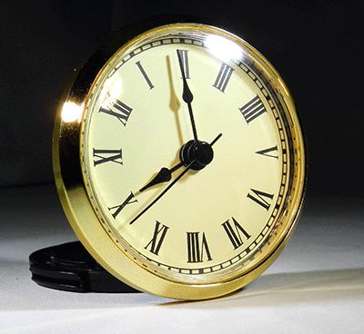 2 34 Gold Face Clock Inserts With Roman Numerals And Black Bezel - 3-roman-numerals-clocks
