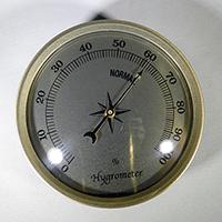Gold Bezel Gold Face Hygrometer