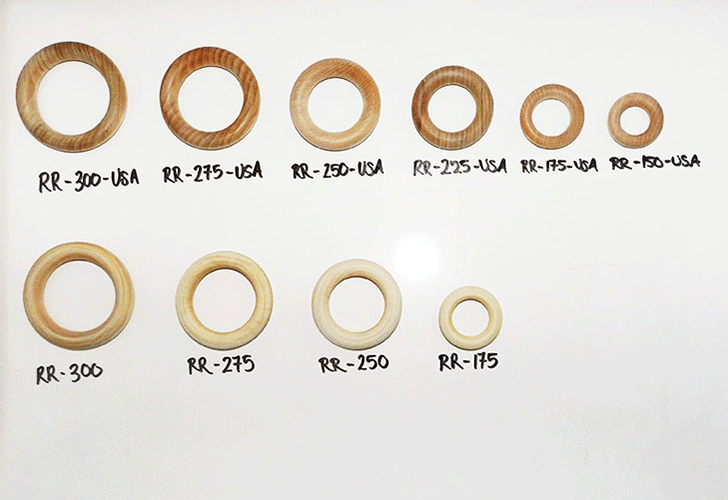 Buy wooden toss rings in Maple. Made in USA   Bear Woods Supply