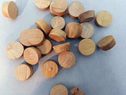 Side Grain Furniture Wood Floor Plugs | Bear Woods Supply
