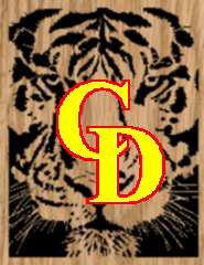 Tiger Portrait 2 - Scroll Saw Pattern by Charles Dearing