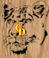 Simple Lioness Portrait - Scroll Saw Pattern by Charles Dearing