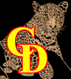 Cheetah Resting in a Tree Portrait - Scroll Saw Pattern by Charles Dearing