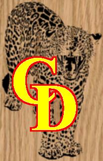 Roaring Jaguar Scrollsaw Pattern - Portrait by Charles Dearing