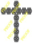Very detailed and challenging fretwork cross by Charles Dearing.