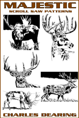 6 antlered animals