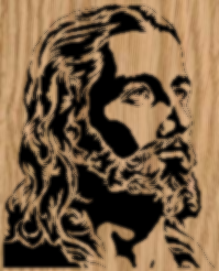 Portrait of Jesus Scrollsaw Pattern - by Charles Dearing
