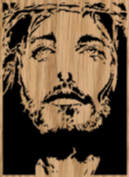 Jesus with a Crown of Thorns - scroll saw pattern by Charles Dearing