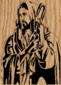 'The Good Shepard' - Jesus Portrait Scrollsaw Pattern by Charles Dearing