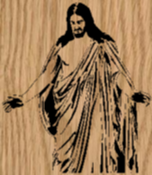 Outstretched Arms - Jesus Portrait Scroll Saw Pattern by Charles Dearing