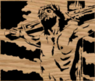 Jesus Crucified Scroll Saw Pattern by Charles Dearing