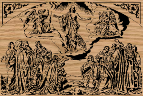 The Ascension of Christ - Portrait-Style Scrollsaw Pattern by Charles Dearing