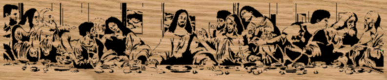The Last Supper - Portrait Scrollsaw Pattern by Charles Dearing