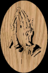 Praying Hands in an Oval - Scroll Saw Pattern by Charles Dearing