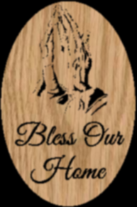 Bless Our Home - Praying Hands in an Oval Scrollsaw Pattern by Charles Dearing
