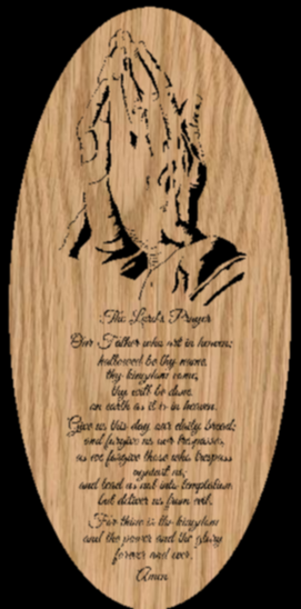 The Lord's Prayer Praying Hands Scrollsaw Pattern by Charles Dearing