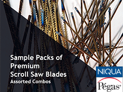 Sample Packs of Pegas Scroll saw Blades | Bear Woods Canada