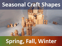 Seasonal Wood Craft Shapes