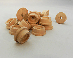 Toy Wooden Train Wheels 1-3/16 inch | Bear Woods Supply